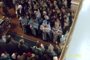 Вечерняя служба В Казанском соборе