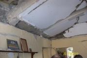 Плиты перекрытия поднятые взрывной волной