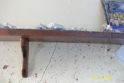 Расплавленный пластик прикипевший к стене