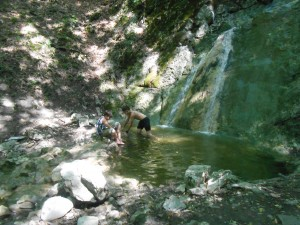 Водопад Лагым-Узень в ур. Кизилташ
