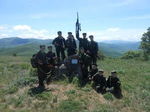 на стоянке феодосийского партизанского отряда