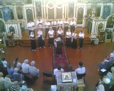 Выступление хора в Казанском соборе