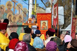 Молебен у иконы Царственным мученикам