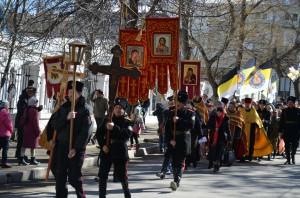 Крестный ход в Феодосии 3 марта 2013г