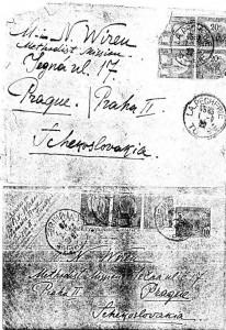Конверты писем Роберта Вирена