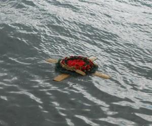 Венок в память ушедшим корабля