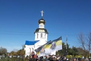 У храма в Первомайском
